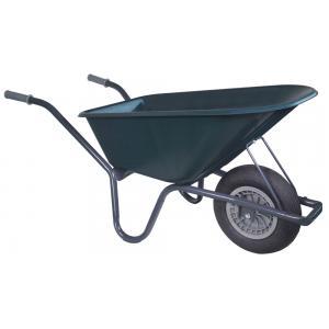Kruiwagen basic grijs 100 liter groen - Binnenband